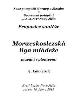 3. kolo Moravskoslezské ligy mládeže