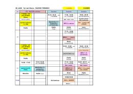 Termín tréninků ve školním roce 2015 2016
