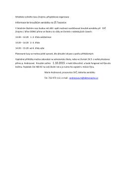 Informace ke kroužkům aerobiku na ZŠ Tasovice: