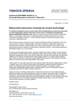 TISKOVÁ ZPRÁVA - Siemens, s.r.o.