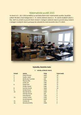 Matematická soutěž 2015