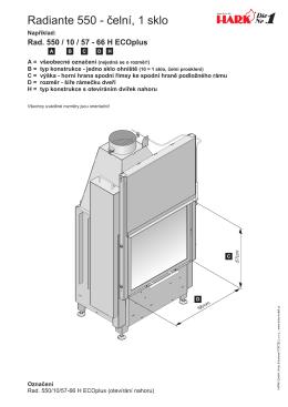 Radiante 550 - čelní, 1 sklo