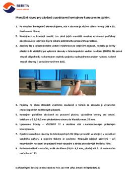 Návod na montáž kontejnerů dílenských stolů