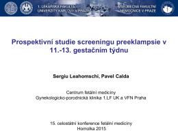 Prospektivní studie screeningu preeklampsie v 11.
