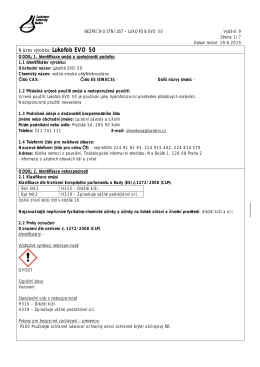 Bezpečnostní list - Lučební závody a.s. Kolín