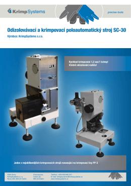 Stroj SC30 - leták - Krimpsystems, sro