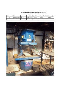 Stroj na výrobu jader vstřelovací KS 25