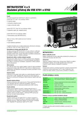 METRATESTER 4 a 5 ZkuЖebn   p˚  stroj dle VDE 0701 a 0702