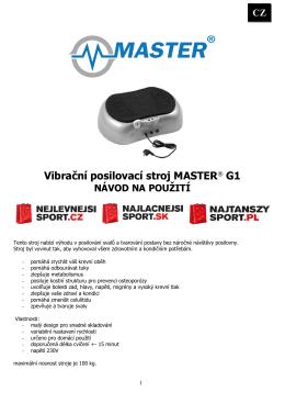 Vibrační posilovací stroj MASTER® G1