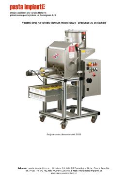 Použitý stroj na výrobu těstovin model SG30 - produkce 30