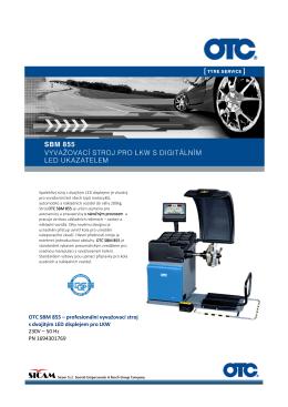 OTC SBM 855 – profesionální vyvažovací stroj s dvojitým LED