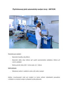 Čtyřvřetenový plně automatický navíjecí stroj - Micro