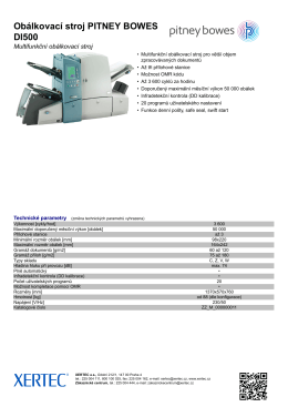 Obálkovací stroj PITNEY BOWES DI500