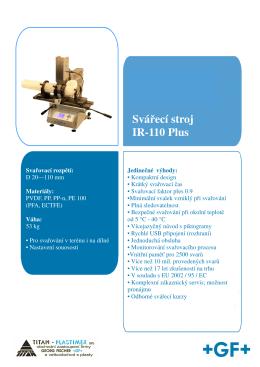 Svářecí stroj IR-110 Plus - TITAN