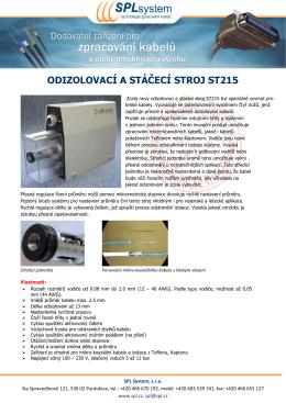 Odizolovací a stáčecí stroj ST215