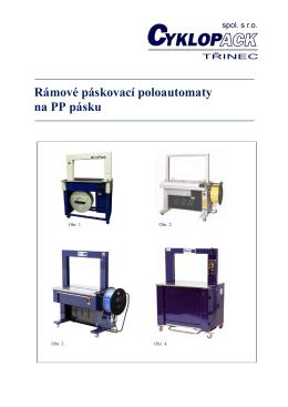 Rámové páskovací poloautomaty na PP pásku