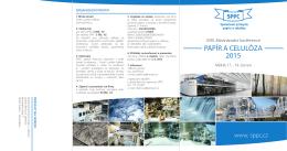 Pozvánka - Společnost průmyslu papíru a celulózy