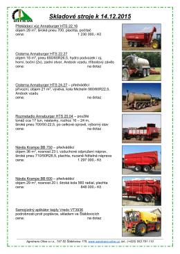 Skladové stroje k 14.12.2015