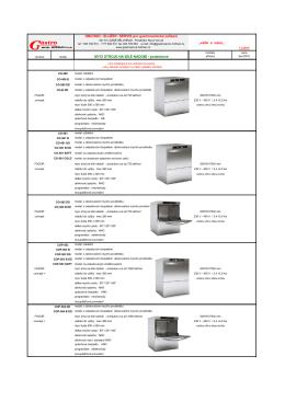 mycí stroje na nádobí podstolové - Gastroservis