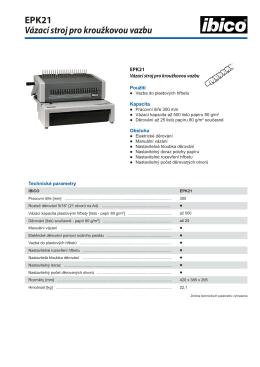 EPK21 Vázací stroj pro kroužkovou vazbu