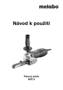 Návod k použití Pilník METABO BFE 9