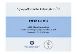 Vývoj očkovacího kalendáře v ČR