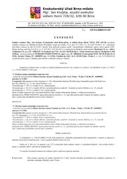 Opravné usnesení - Exekutorský úřad Brno