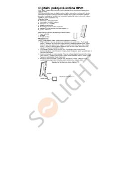 Digitální pokojová anténa HP21 - SOLIGHT E-shop