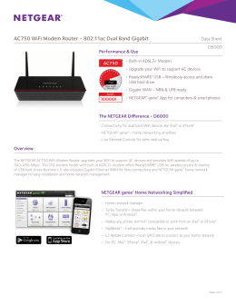 AC750 WiFi Modem Router - 802.11ac Dual Band Gigabit