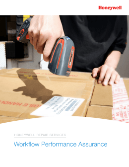 Repair Services Brochure - Honeywell Scanning and Mobility