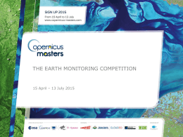 The earth monitoring competition