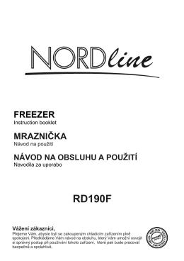 NORDline RD 190 F – skříňová mraznička