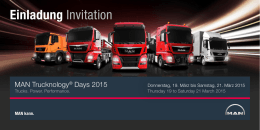 MAN Trucknology® Days 2015