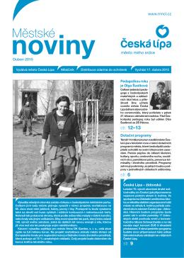 04/2015 Duben - Městské noviny Česká Lípa