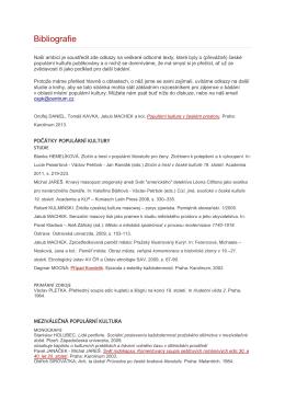 bibliografie k březnu 2014 - Centrum pro studium populární kultury