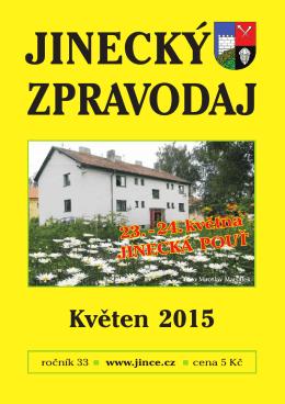 Jinecký zpravodaj - květen 2015