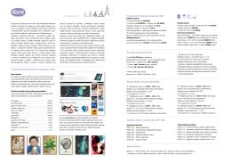 Adresa redakce Zaměření Fontu 1 – 6/2015 (čísla 139 – 144