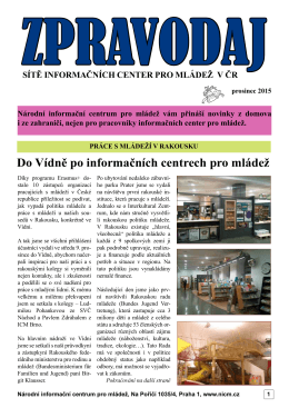 Do Vídně po informačních centrech pro mládež