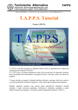 TAPPS Tutorial