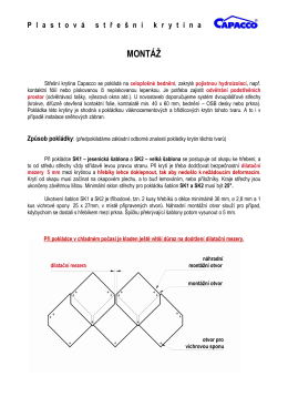 CAPACCO - Montáž