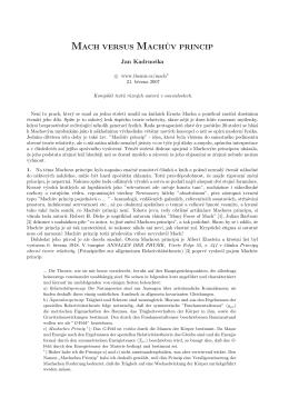 (Mach versus Machův princip - PDF).