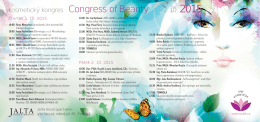 Program Congress of beauty 2015 ()