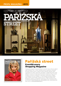 PAŘÍŽSKÁ STREET | Event & Luxury shopping magazine