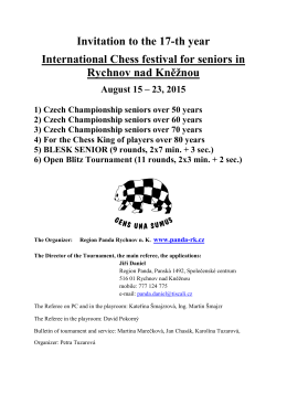 Invitation to the 17-th year International Chess