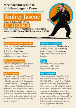 Andrej Jasenc - Bujinkan Dojo Prague