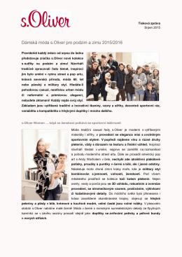 Dámská móda s.Oliver pro podzim a zimu 2015/2016