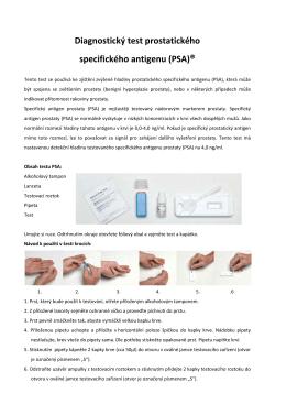 Diagnostický test prostatického specifického antigenu (PSA)®