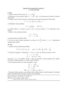 Spojité deterministické modely I 1. cvičná písemka I. část 1. Najděte