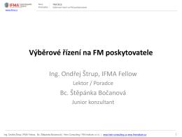 Výběrové řízení na FM poskytovatele