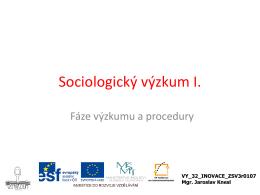 Metody a techniky sociologického výzkumu
